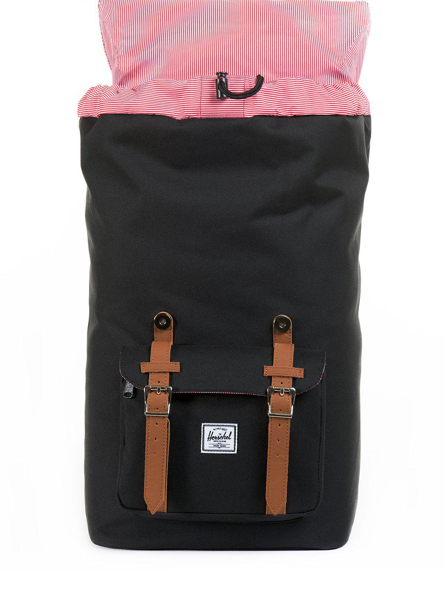 Herschel Little America Backpack 600D Poly Black Tan 25L