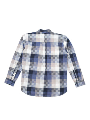 Qutn Button Down LS Crazy Square Oxford - MORE by Morello Indonesia