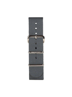 Briston Nato Strap Grey Polished Steel 20mm - MORE by Morello Indonesia