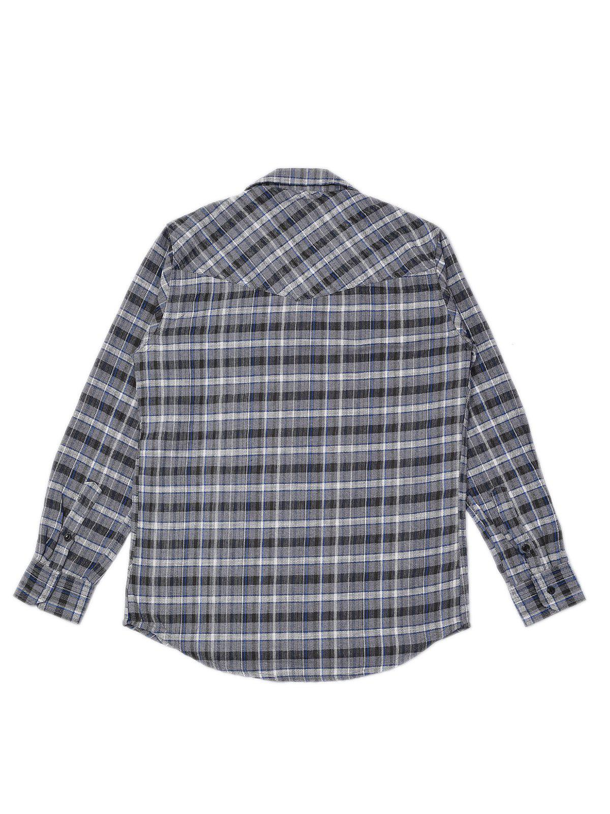 Jackhammer Liam Plaid Shirt Grey - MORE by Morello Indonesia