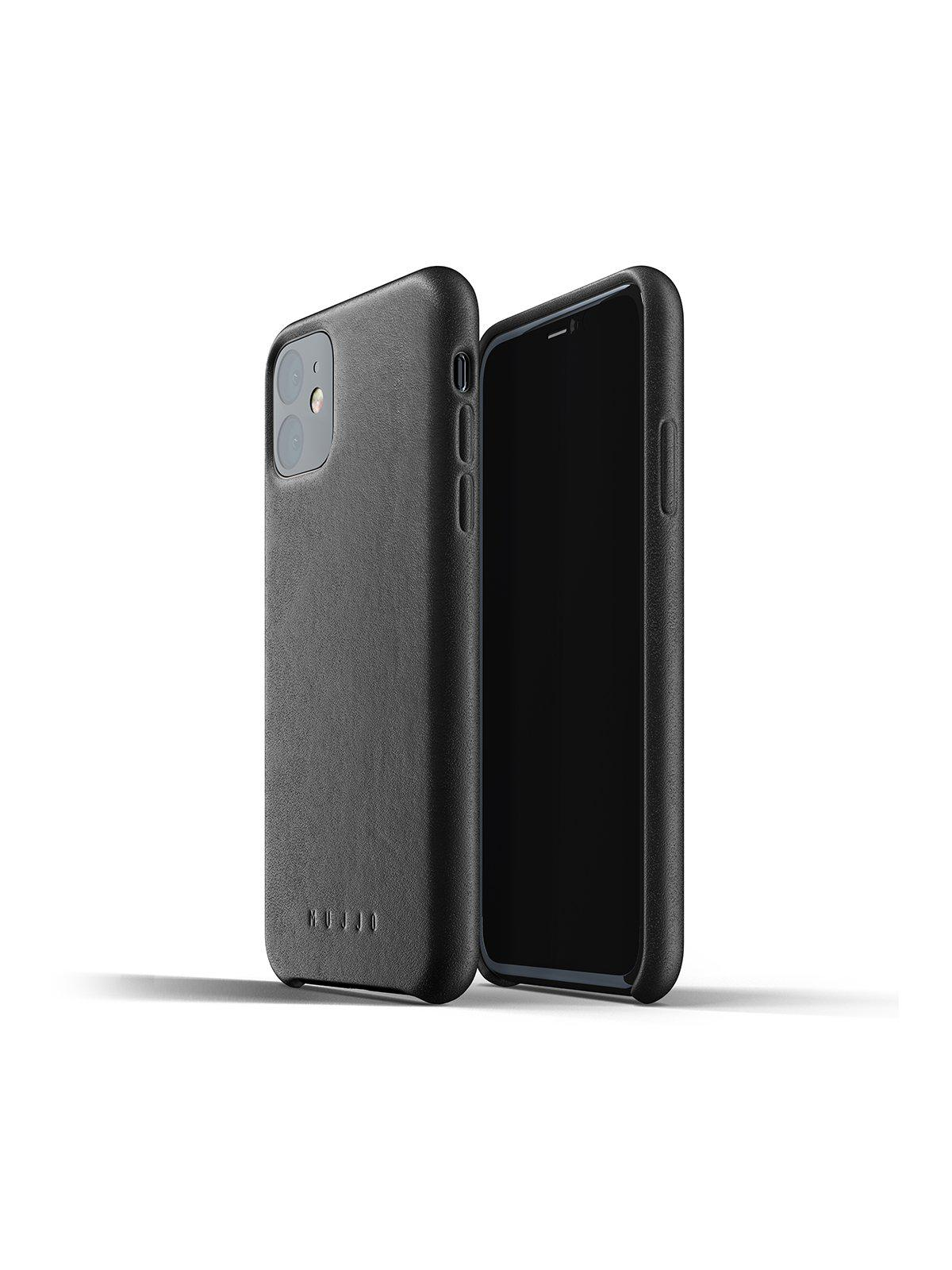 Mujjo Full Leather Case for iPhone 11 Black - MORE by Morello Indonesia