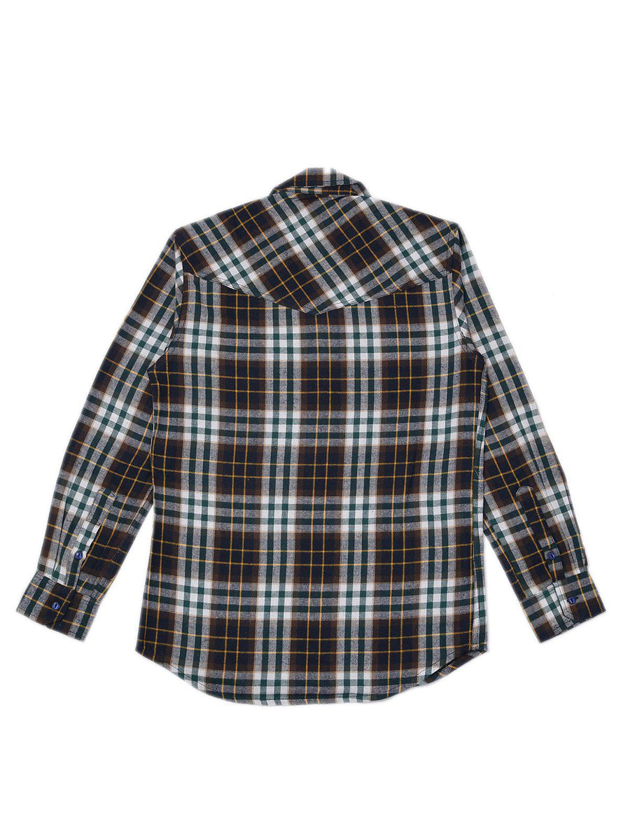 Jackhammer Liam Plaid Shirt Brown - MORE by Morello Indonesia