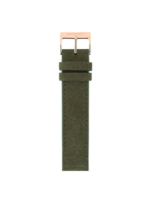 Briston Suede Strap Green Rose Gold 18mm - MORE by Morello Indonesia