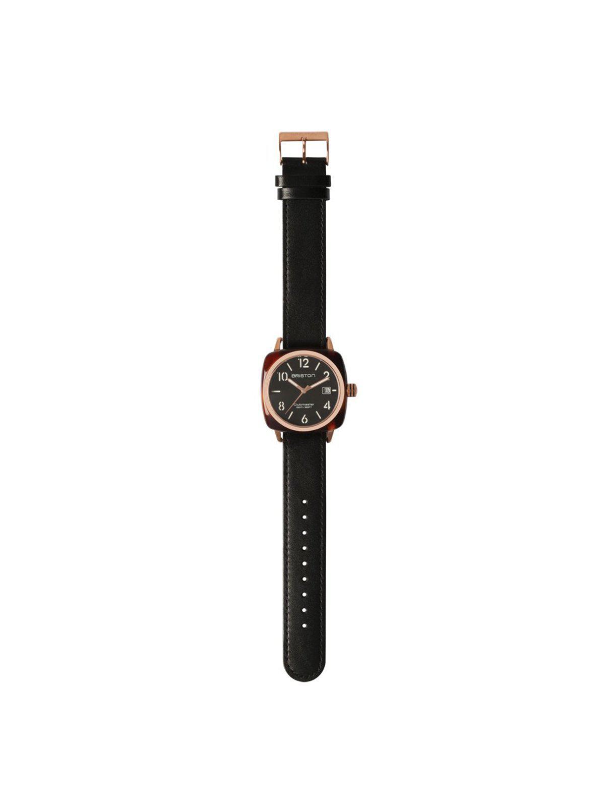 Briston Classic Leather Strap Black Rose Gold 20mm - MORE by Morello Indonesia