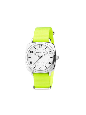 Briston Nato Strap Neon Yellow Polished Steel 18mm - MORE by Morello Indonesia