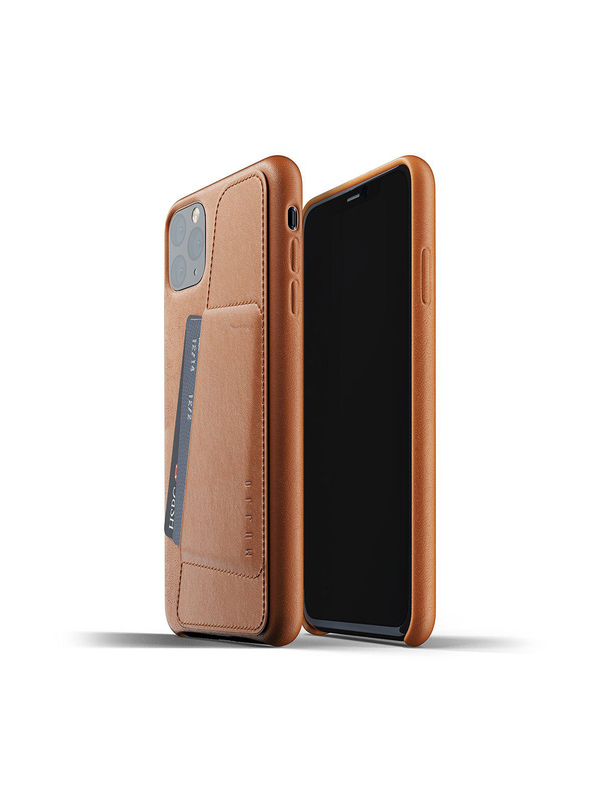 Mujjo Full Leather Wallet Case for iPhone 11 Pro Max Tan - MORE by Morello Indonesia