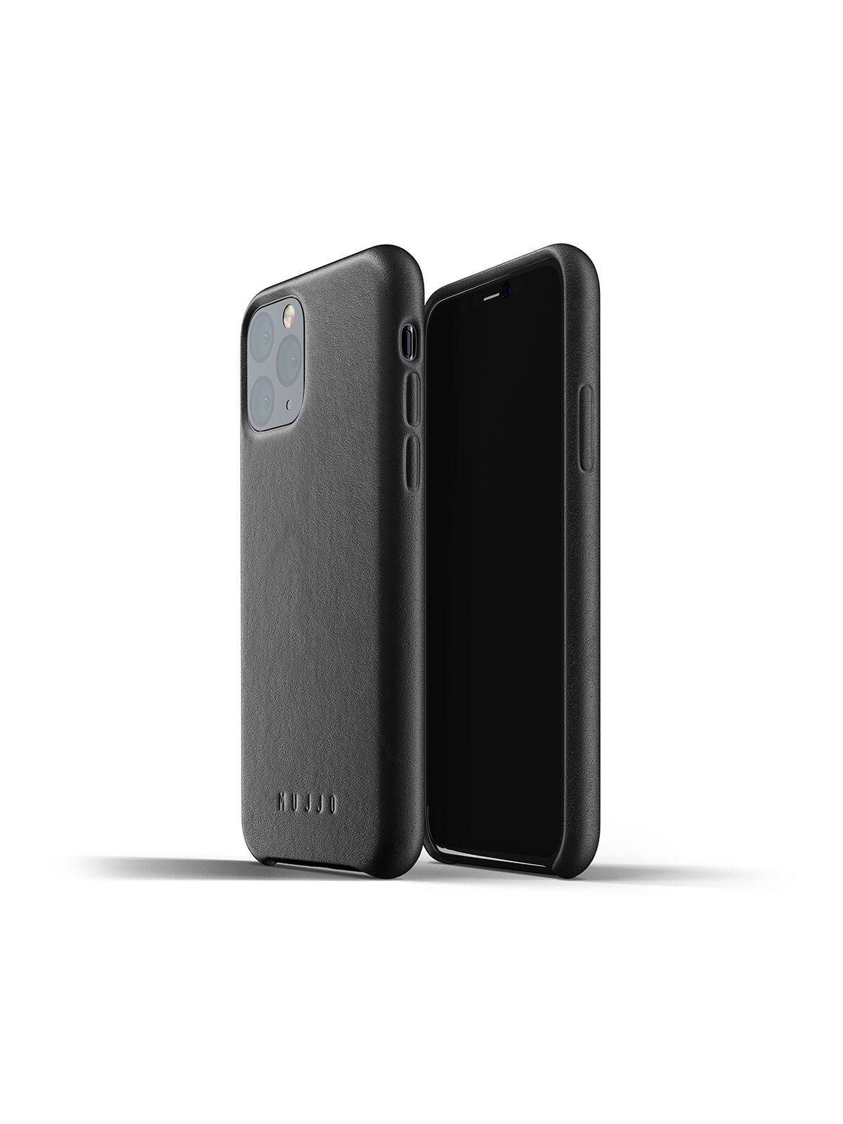 Mujjo Full Leather Case for iPhone 11 Pro Black - MORE by Morello Indonesia
