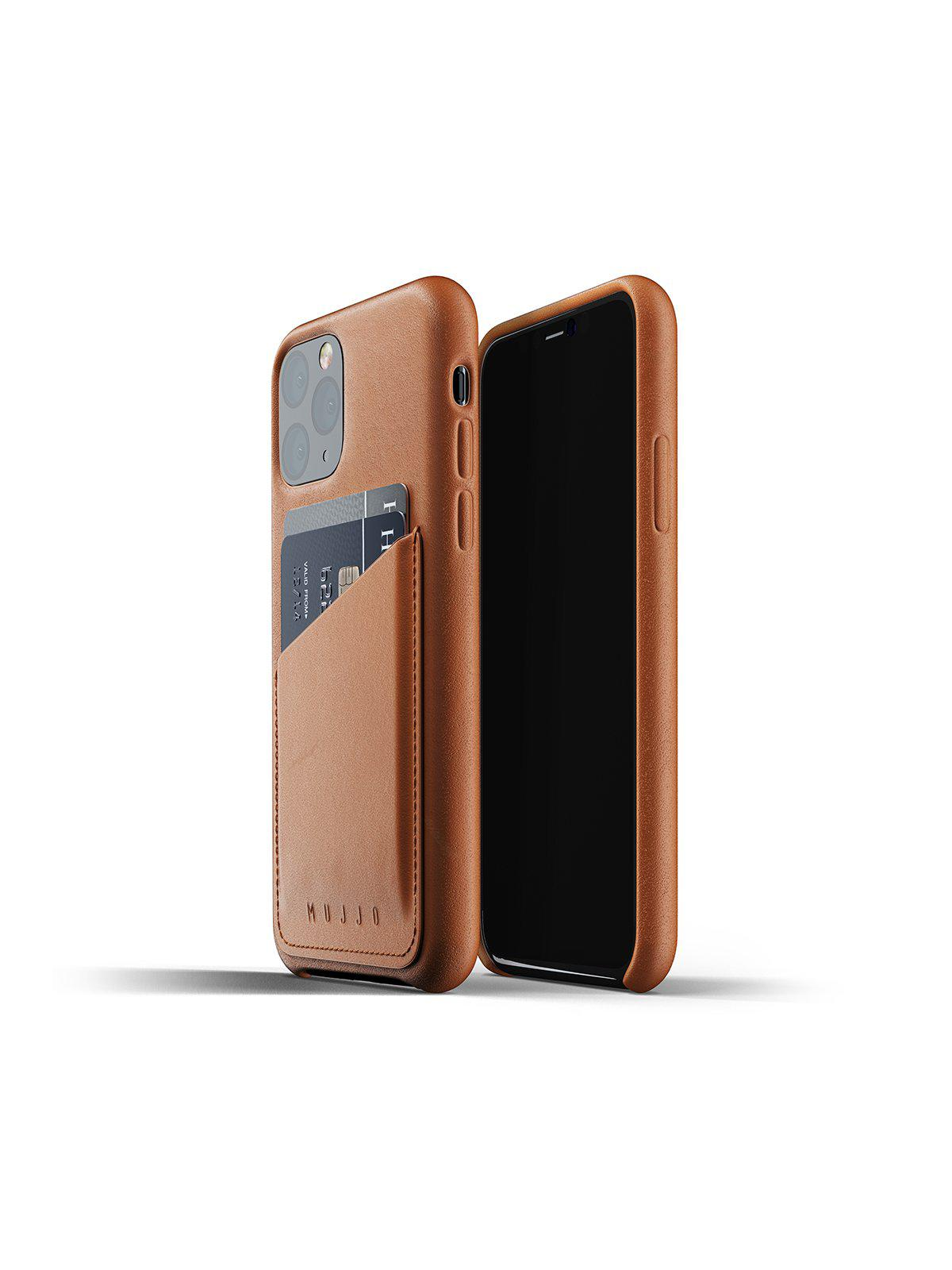 Mujjo Full Leather Wallet Case for iPhone 11 Pro Tan - MORE by Morello Indonesia