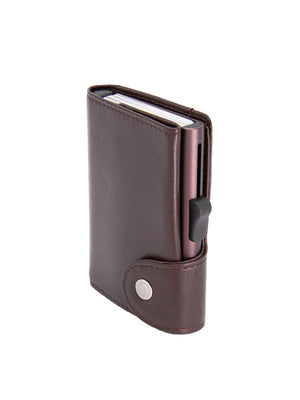 C-Secure XL Italian Leather Wallet RFID Mogano Brown - MORE by Morello Indonesia