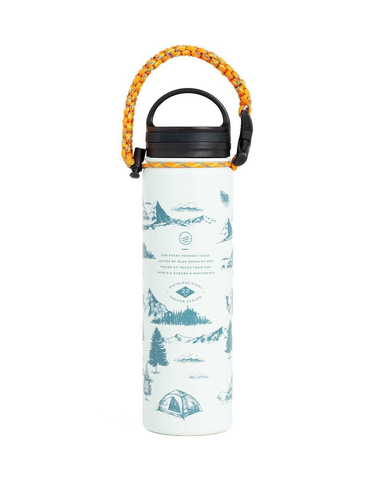 United by Blue 22oz Mountain Vista 22oz Insulated Steel Water Bottle White - MORE by Morello Indonesia