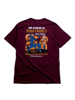 Oldblue Co. Tee The Barns & Barrels Maroon - MORE by Morello Indonesia