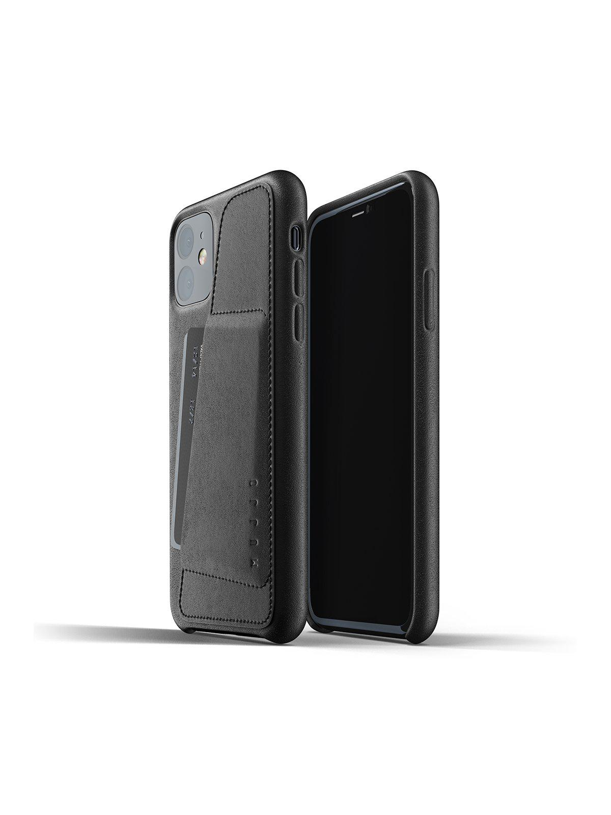 Mujjo Full Leather Wallet Case for iPhone 11 Black - MORE by Morello Indonesia
