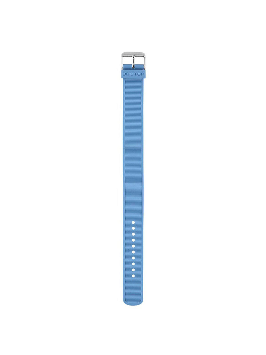 Briston Rubber Strap Light Blue Polished Steel 18mm - MORE by Morello Indonesia