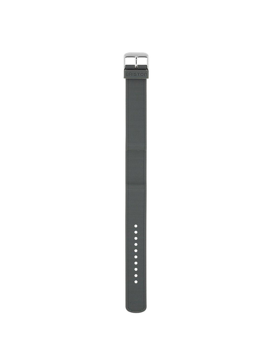 Briston Rubber Strap Grey Polished Steel 18mm - MORE by Morello Indonesia