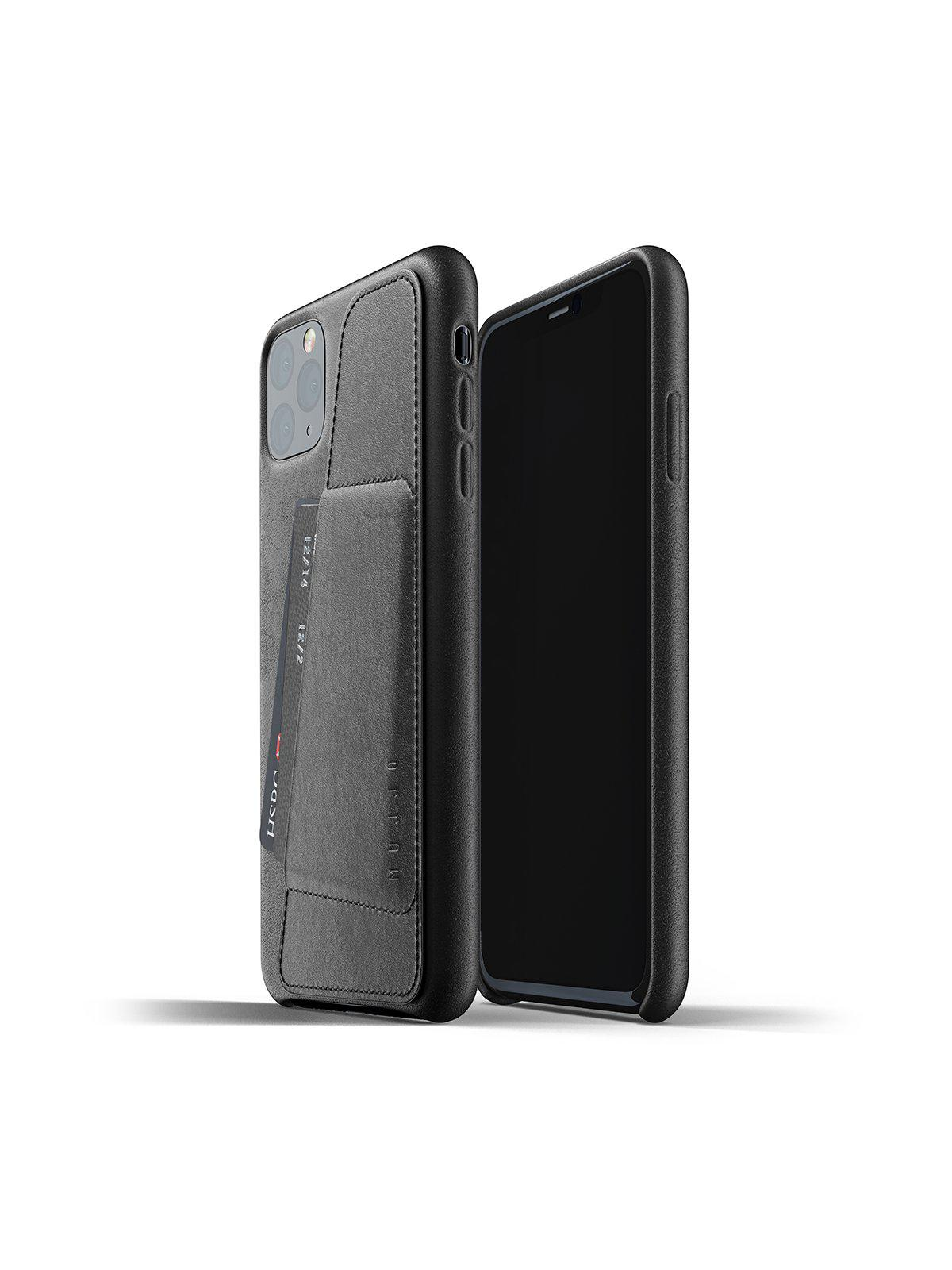 Mujjo Full Leather Wallet Case for iPhone 11 Pro Max Black - MORE by Morello Indonesia