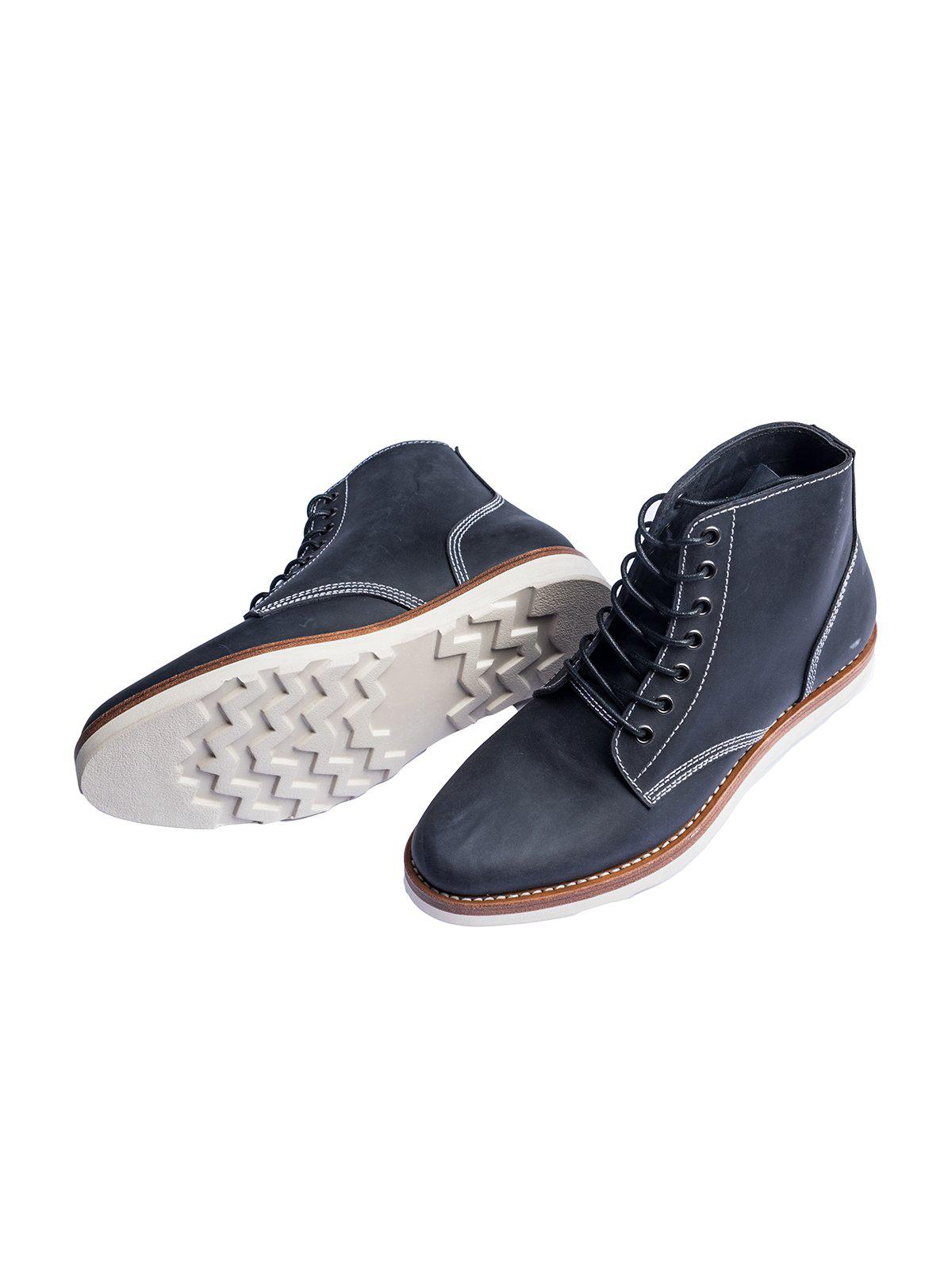 Santalum Plain Toe Service Boots Navy - MORE by Morello Indonesia