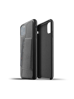 Mujjo Full Leather Wallet Case for iPhone 11 Pro Max Black