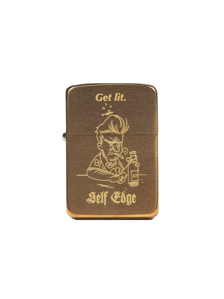 Self Edge Zippo Vintage 1941 Repro Lighter Get Lit - MORE by Morello - Indonesia