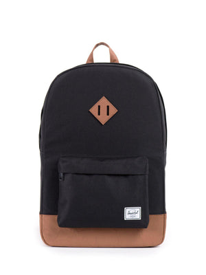 Herschel Heritage Backpack 600D Poly Black Tan 21.5L - MORE by Morello Indonesia