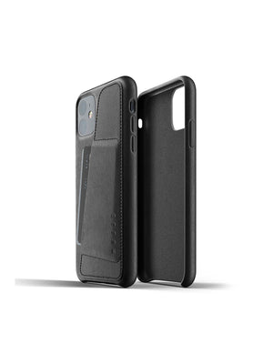 Mujjo Full Leather Wallet Case for iPhone 11 Black