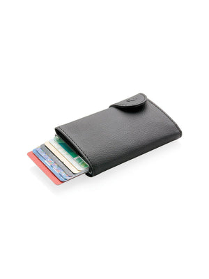 C-Secure Italian Leather RFID Wallet With Coin Pouch Nero - MORE by Morello - Indonesia