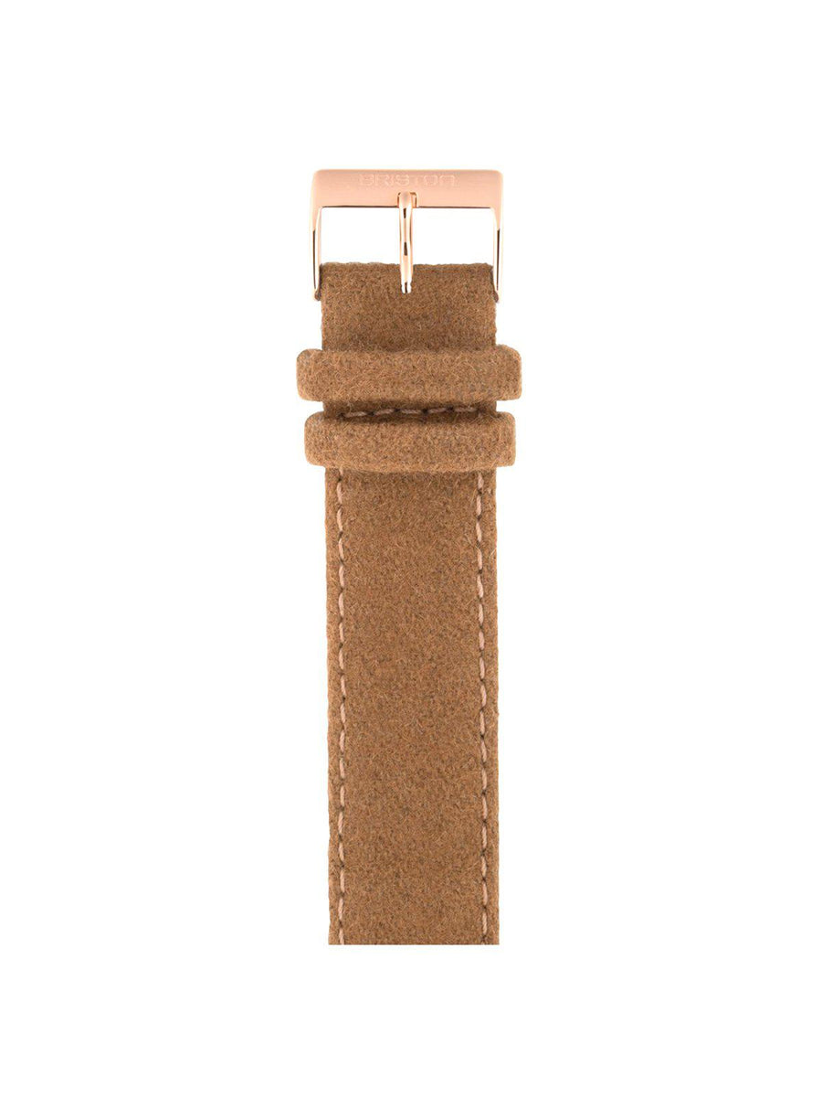 Briston Leather Flannel Strap Camel Rose Gold 20mm - MORE by Morello Indonesia