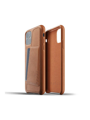 Mujjo Full Leather Wallet Case for iPhone 11 Tan