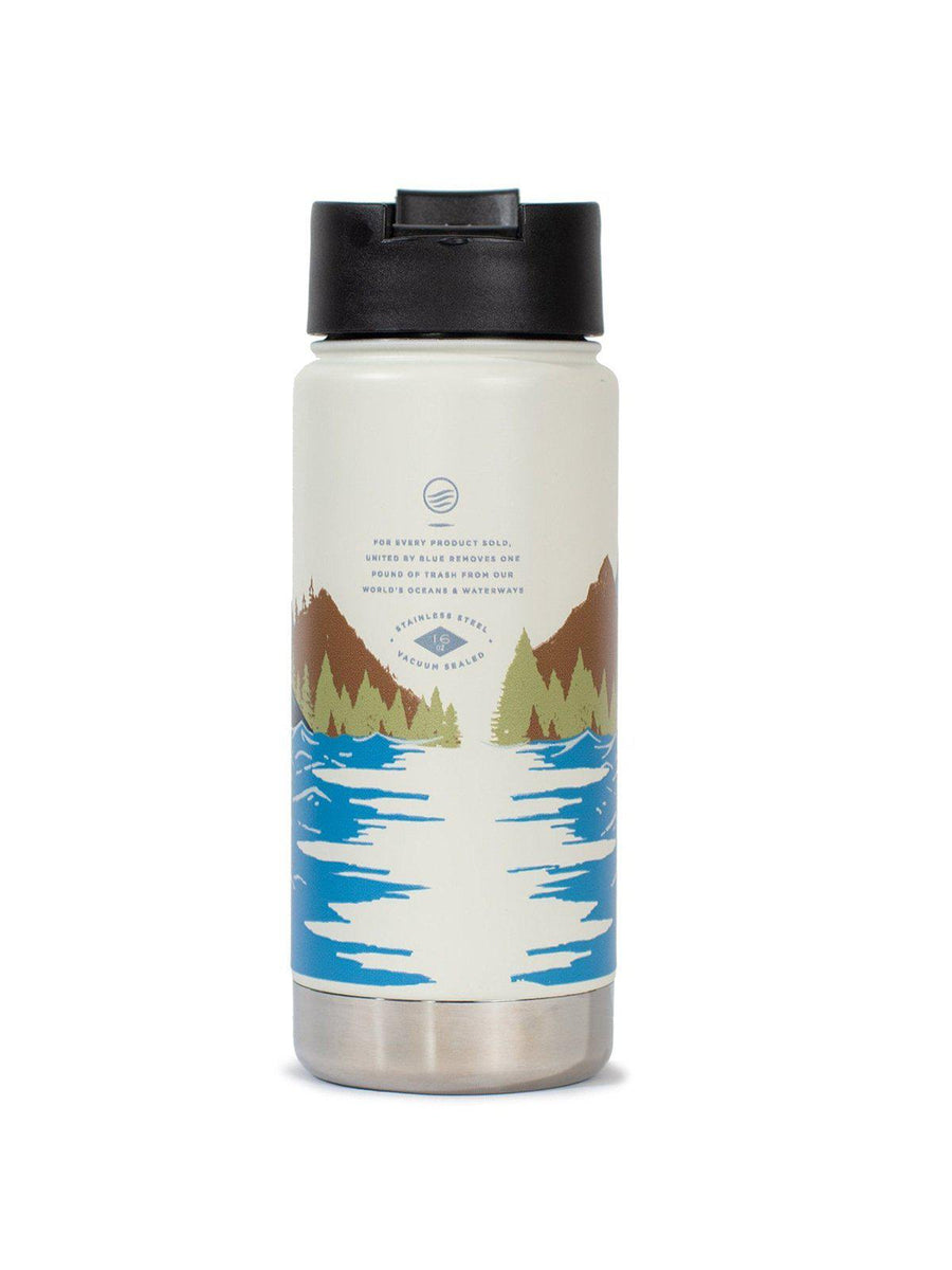 United by Blue 16oz Travel Bottle Lakeside White - MORE by Morello Indonesia
