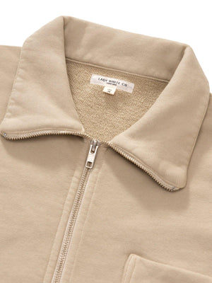 Lady White Co. Full Zip Jacket Beige
