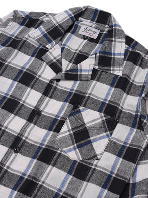 Jackhammer Liam Plaid Shirt White - MORE by Morello Indonesia