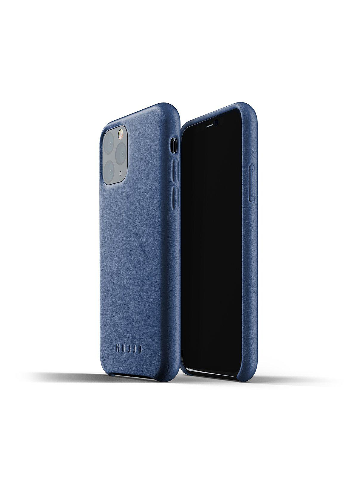 Mujjo Full Leather Case for iPhone 11 Pro Monaco Blue - MORE by Morello Indonesia
