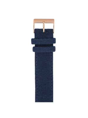 Briston Leather Flannel Strap Navy Blue Rose Gold 20mm - MORE by Morello Indonesia