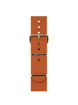 Briston Nato Strap Dark Brown Yellow Gold 20mm - MORE by Morello Indonesia
