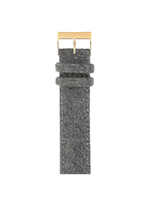 Briston Leather Flannel Strap Grey Yellow Gold 20mm - MORE by Morello Indonesia