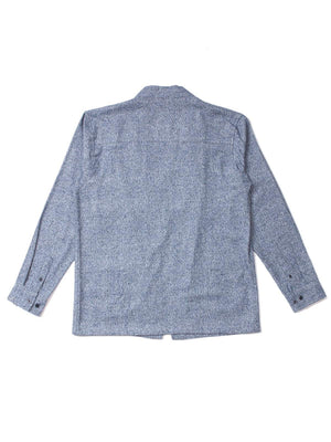 Qutn Throw On Cobalt Salt and Pepper Flannel-Jacket-Qutn-MORE by Morello
