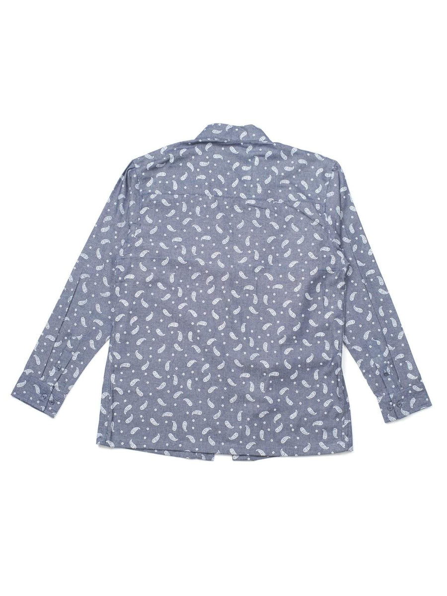 Qutn Throw On Paisley Chambray-Jacket-Qutn-MORE by Morello