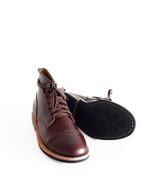 Chevalier Captoe Boots Secret Brown