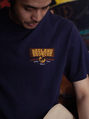 Oldblue Co. Tee The Badland Broncos Navy - MORE by Morello Indonesia