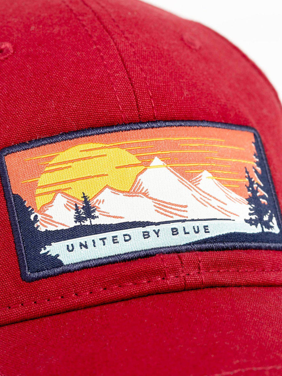 United by Blue Sun Mountain Baseball Hat Brick Red