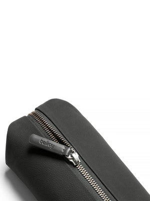 Bellroy Pencil Case Plus Leather Nubuck Charcoal - MORE by Morello Indonesia