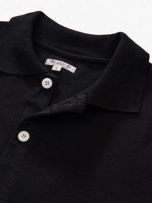 Lady White Co. Placket Polo Black - MORE by Morello Indonesia
