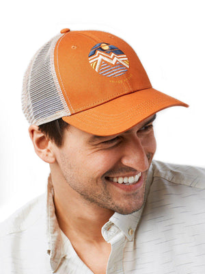 United by Blue Geo Mountain Trucker Hat Tawny