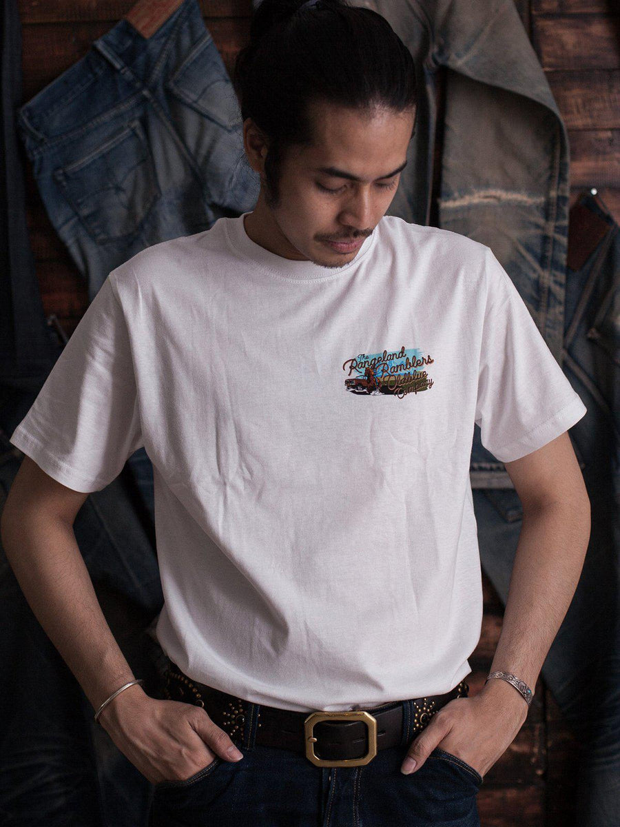 Oldblue Co. Tee The Rangeland Ramblers White - MORE by Morello Indonesia