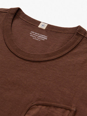 Lady White Co. Clark Pocket Tee Mahogany