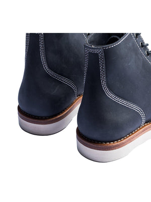 Santalum Plain Toe Service Boots Navy - MORE by Morello - Indonesia