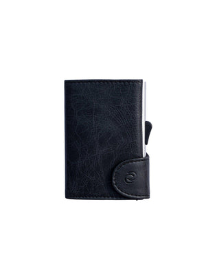 C-Secure Italian Leather RFID Wallet Blackwood - MORE by Morello Indonesia