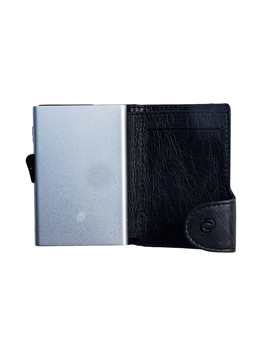 C-Secure Italian Leather RFID Wallet Blackwood - MORE by Morello - Indonesia