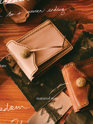 Voyej Woodland Natural Short Wallet - MORE by Morello - Indonesia