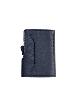 C-Secure Italian Leather RFID Wallet Blu Marino - MORE by Morello Indonesia