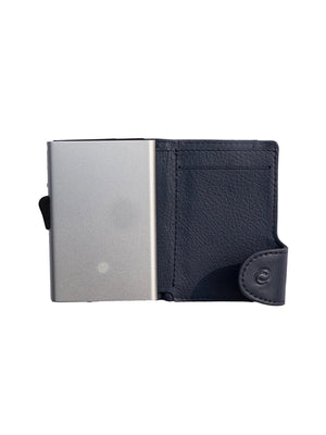 C-Secure Italian Leather RFID Wallet Blu Marino - MORE by Morello - Indonesia